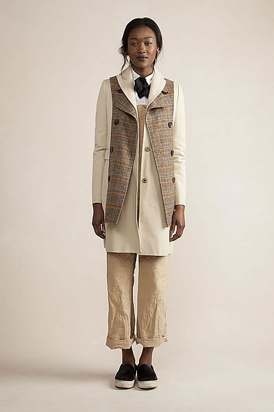 Top Coat with Trench Lapel